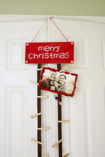 diy christmas card hanger three parts blessed. Black Bedroom Furniture Sets. Home Design Ideas